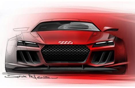 Audi показал концепт гибридного спорткара Quattro Sport e-Tron