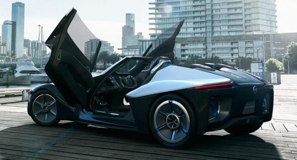 Nissan покажет в Токио трёхместный спорткар с электроприводом