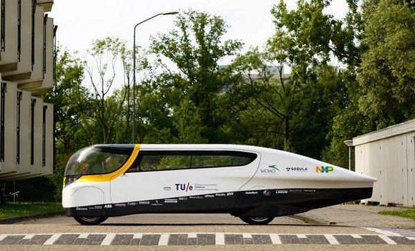 Электромобиль для всей семьи на солнечной энергии.