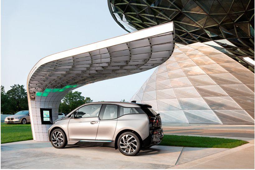 Концепт зарядной станции для электромобилей