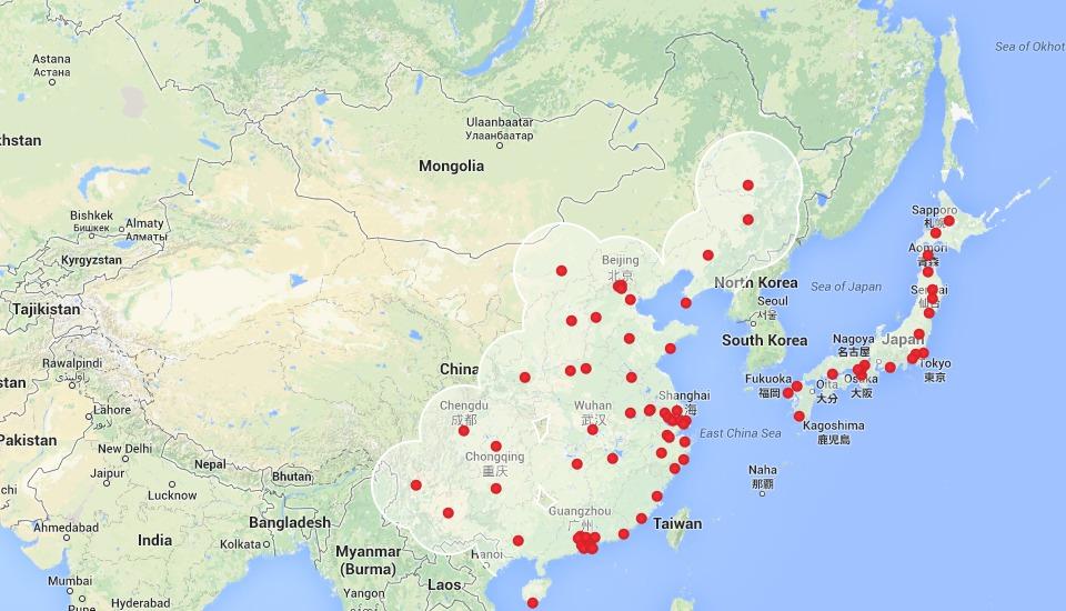 За месяц количество Supercharger в Азии удвоилось
