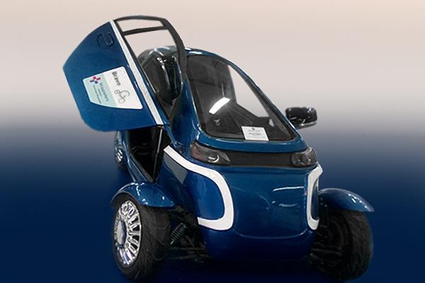 Cверхкомпактноый электромобиль-трансформер