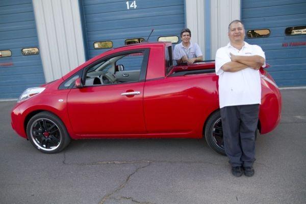 Электрокар Nissan Leaf превратили в пикап