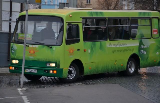 В Луцке появилась первая электрическая маршрутка.
