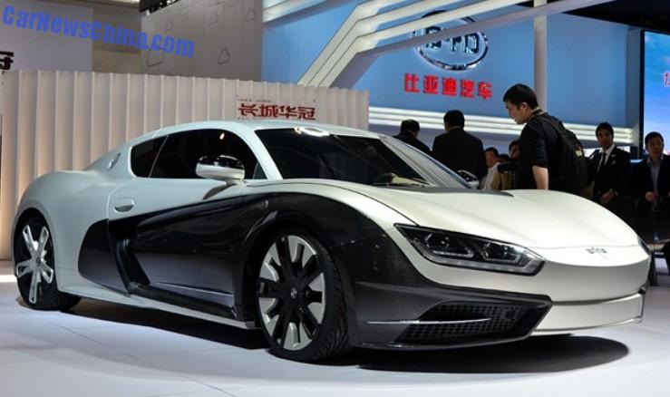 Китайский электро спорткар в стиле Bugatti