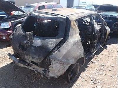 Аккумулятор Nissan Leaf выдержал сильный пожар