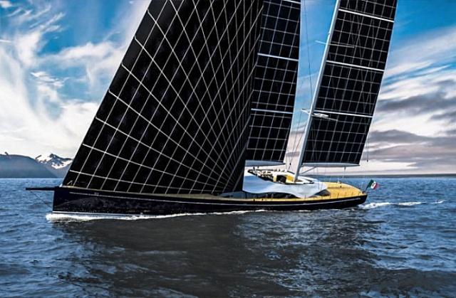 Яхта на солнечных парусах. Это возможно?