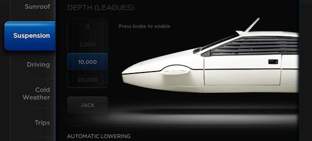 В Tesla Model S нашли скрытый режим субмарины