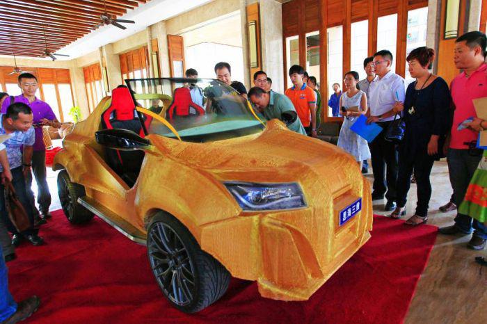В Китае напечатали электромобиль