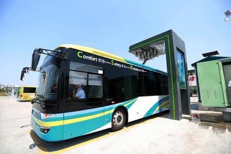 В провинции КНР запустили элекртроавтобусы