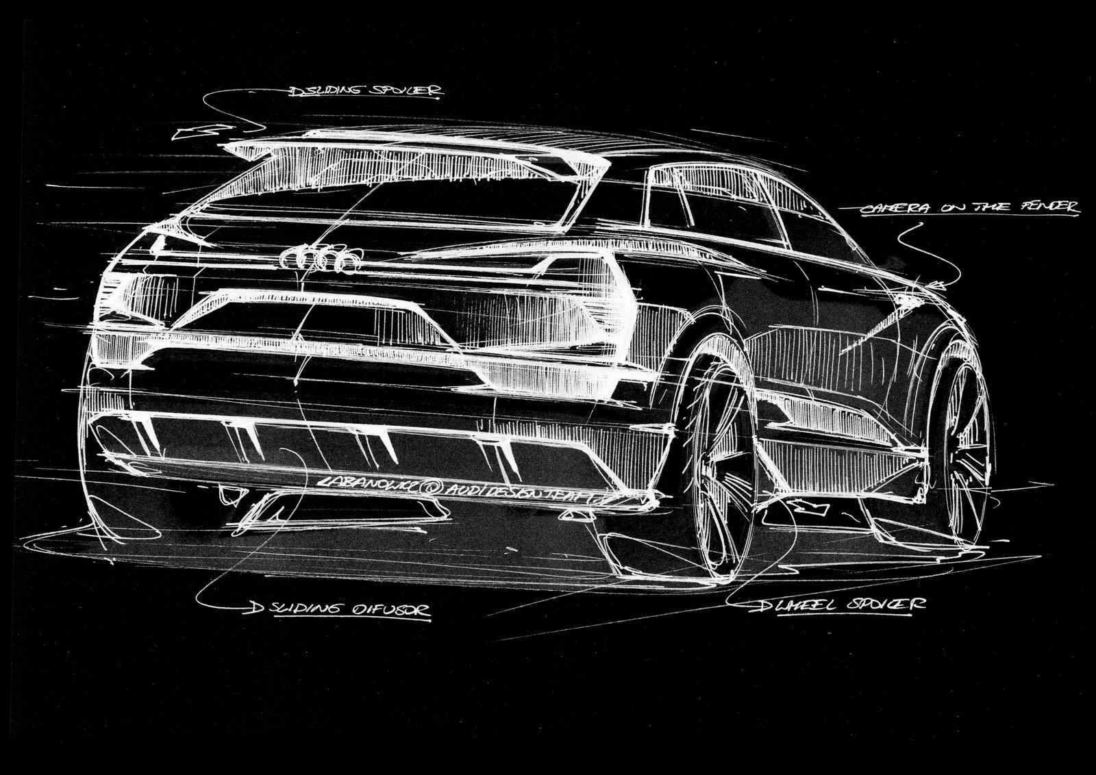 Первый в истории Audi чисто электрический кроссовер будет называться E-Tron Quattro