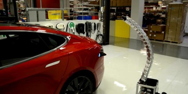 Демонстрация зарядного будущего от Тесла