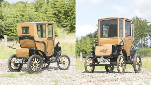 На Британском аукционе продали 110 летний электромобиль