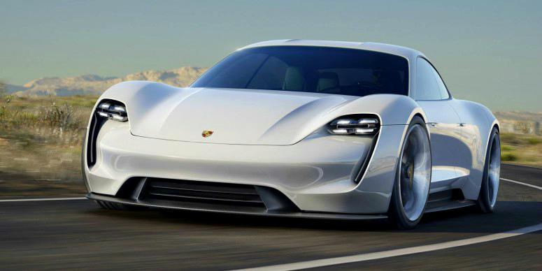 Прототип четырехместного электрокара Porsche