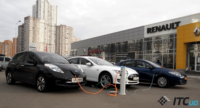 Украина постепенно переходит на электромобили