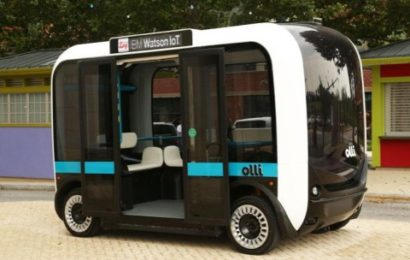 IBM и Local Motors представили беспилотный электрический микроавтобус Olli