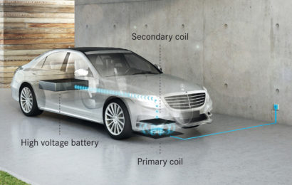 Седан Mercedes-Benz S 500e будет заряжаться от беспроводной зарядки