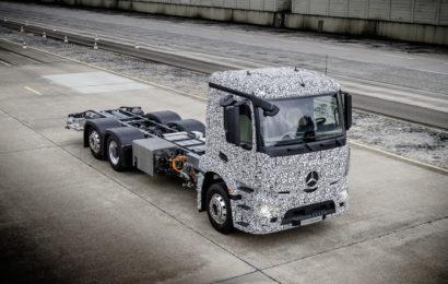 Электрический тяжелый грузовик городского транспорта Mercedes-Benz