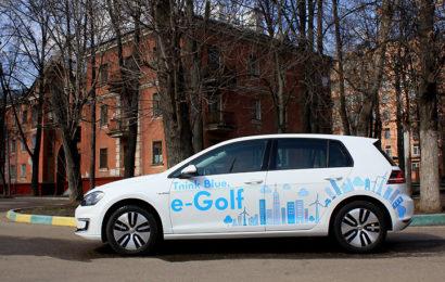 Volkswagen e-Golf учимся заряжать его, где придется