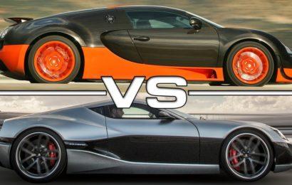 Concept-One обошел  Veyron на прямой(видео)