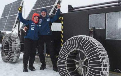 Голландцы исследуют Антарктику на солнечном электромобиле
