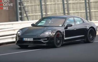 Porsche испытывает новый электрический Taycan