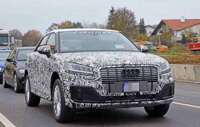 Audi тестирует новый электрический Q2
