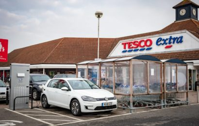 Британия. Volkswagen и Tesco(сеть супермаркетов) создают сеть электрозаправок